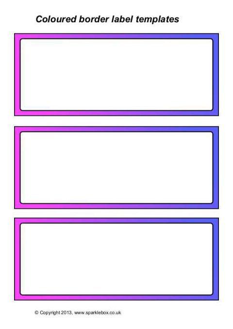 plain editable classroom label templates