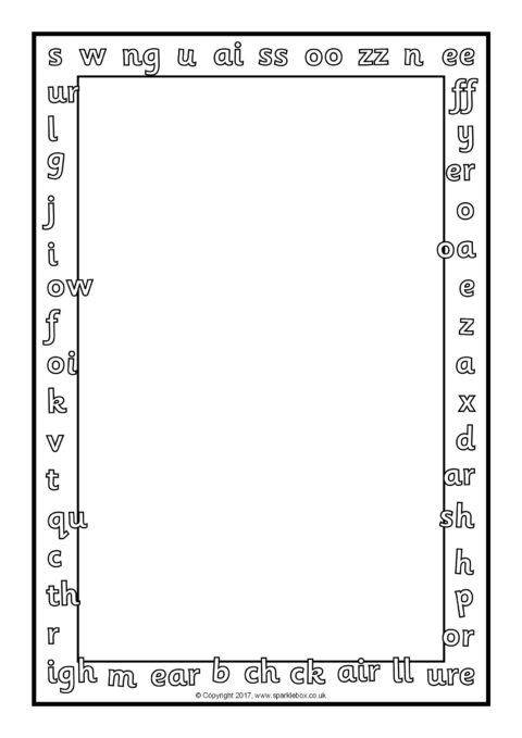 Zebra A4 Page Borders (SB9226) - SparkleBox