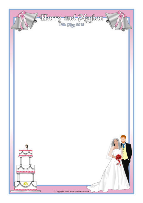royal wedding 2018 a4 page borders sb12463 sparklebox