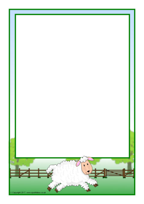 Lollipop-Themed A4 Page Borders