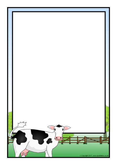cow a4 page borders  sb12269