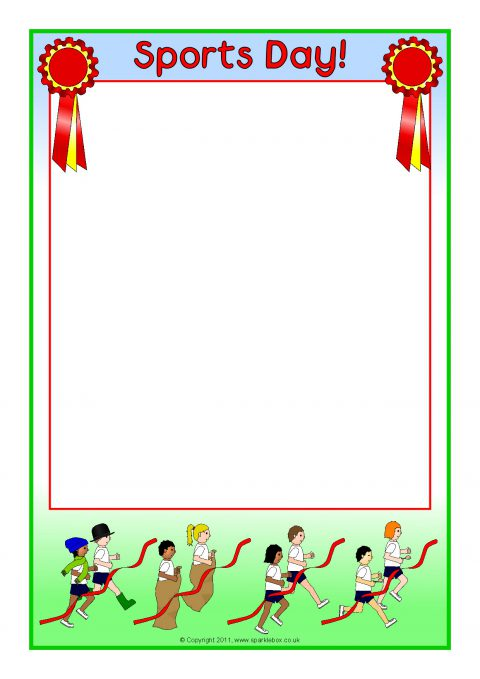 sports day a4 page borders  sb4764