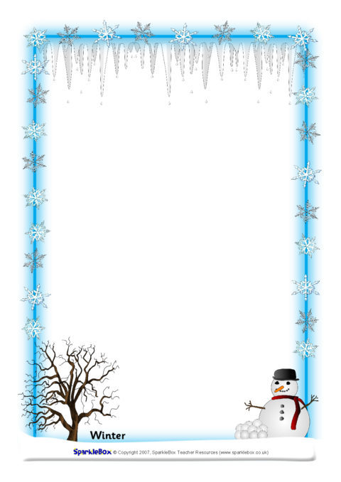 weather and seasons a4 page borders  sb894