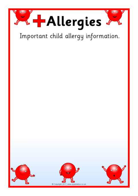 pupil medical information board editable posters  sb5273