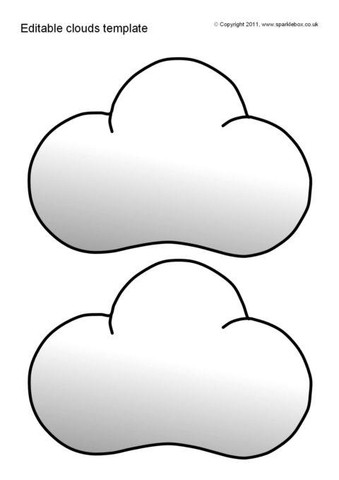 editable clouds template sb5543 sparklebox