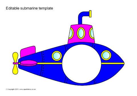 editable submarine templates sb5939 sparklebox