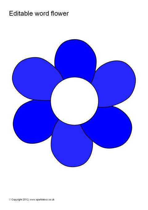 Editable Word/Vocabulary Flowers (SB8073) - SparkleBox