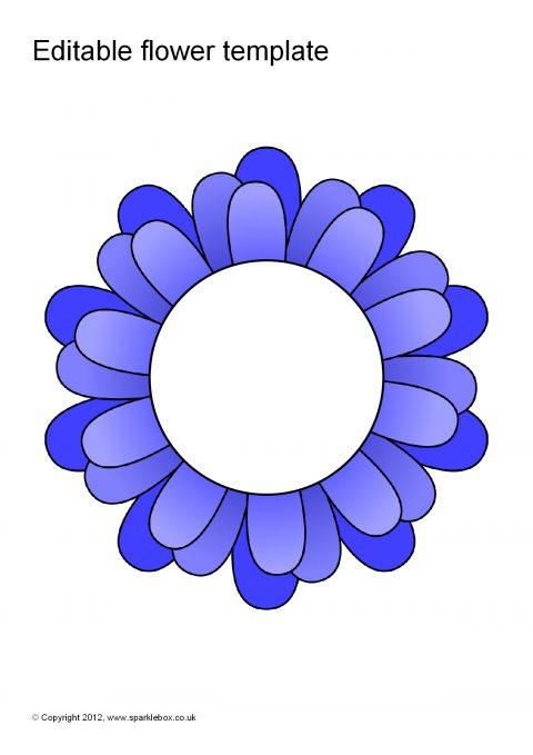 Editable Coloured Flower Templates Sb7066 Sparklebox