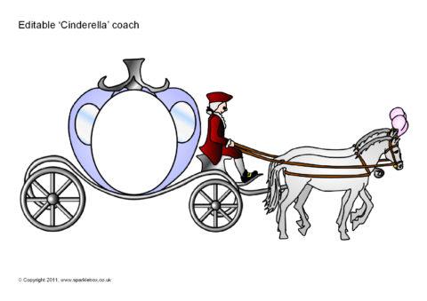 Editable Cinderella Coach Templates SB6163