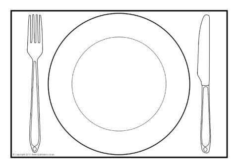Dinner Plate A4 Editable Templates Sb4904 Sparklebox