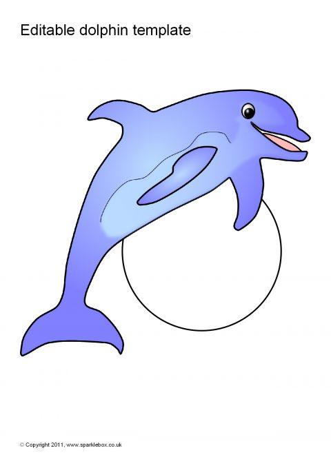 Editable Dolphin Template SB6372
