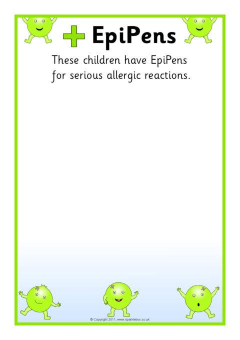 pupil medical information board editable posters  sb5273
