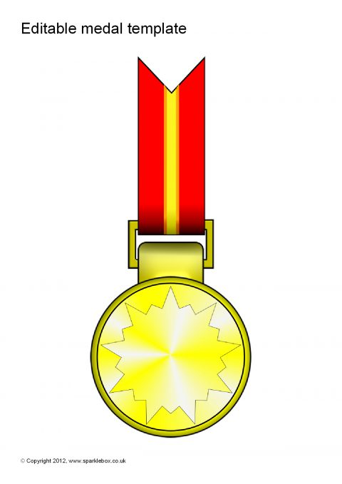 editable medal templates  sb7702