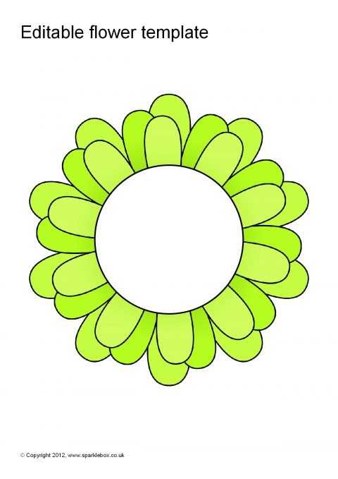 Editable Coloured Flower Templates (SB7066) - SparkleBox