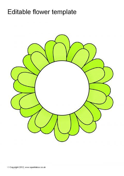 Editable Coloured Flower Templates (SB7066) - SparkleBox