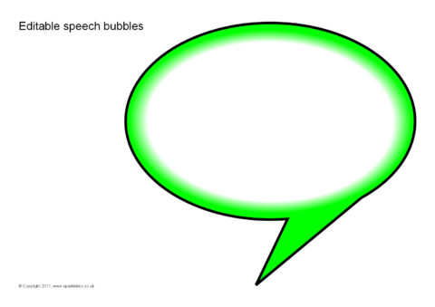 image regarding Printable Speech Bubbles identified as Editable Speech Bubbles (SB5224) - SparkleBox