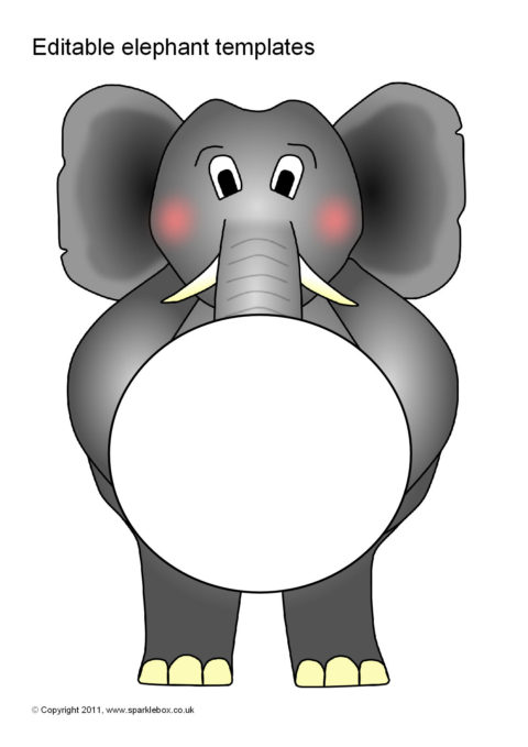 editable elephant templates