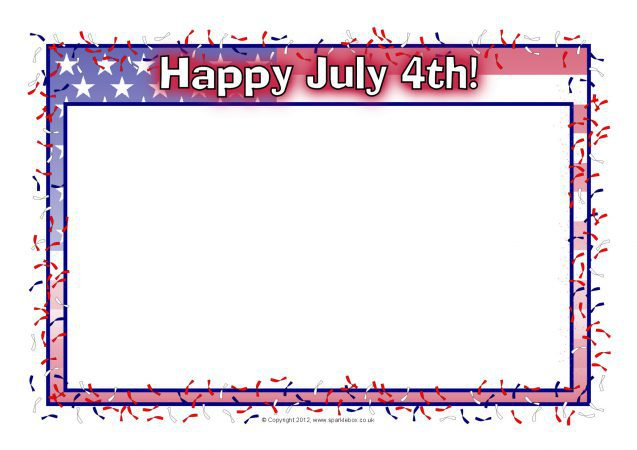 american independence day a4 page borders  sb8301