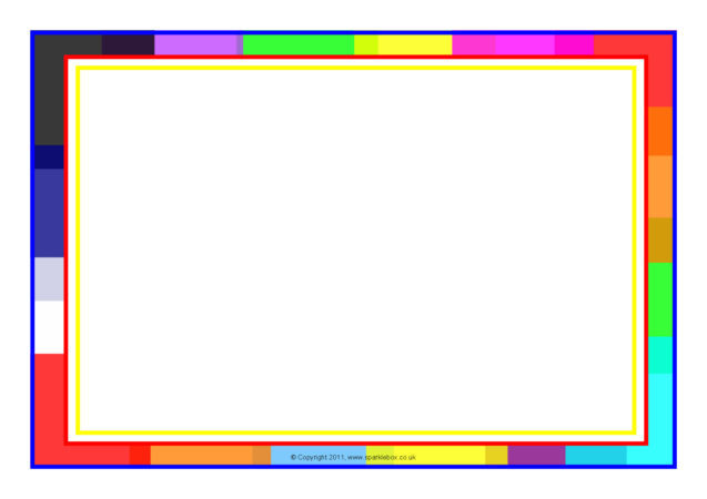 colour-themed a4 page borders  sb5632