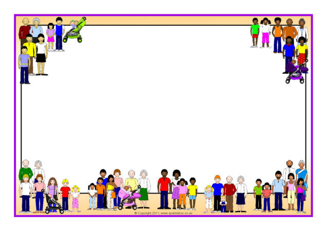 families a4 page borders  sb4784
