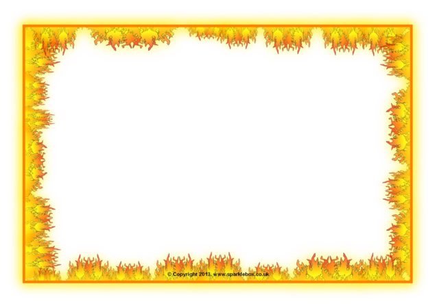 Fire-Themed A4 Page Borders