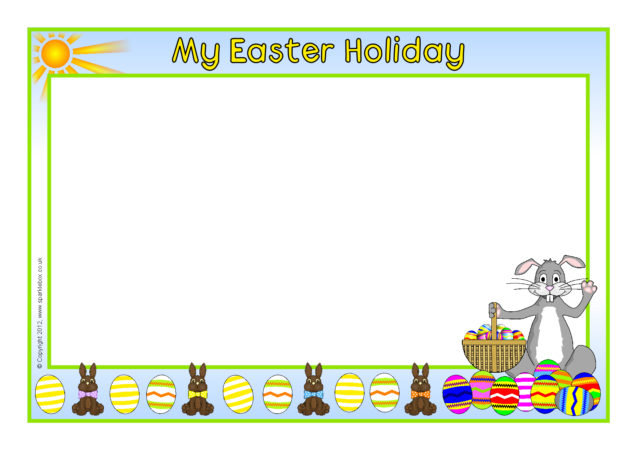 my easter holiday a4 page borders  sb7794