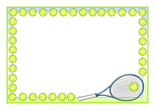 Tennis A4 Page Borders (SB11017) - SparkleBox