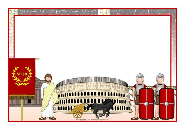 romans a4 page borders  sb5998