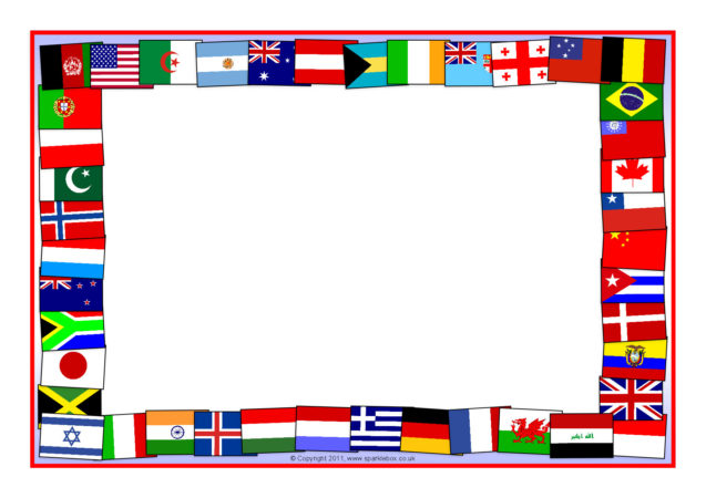 flags of the world a4 page borders  sb5827