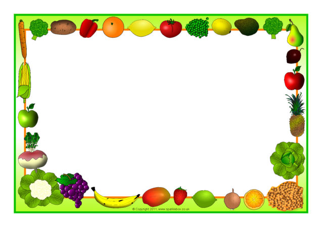 Fruit and Vegetable-Themed A4 Page Borders (SB5485 ...