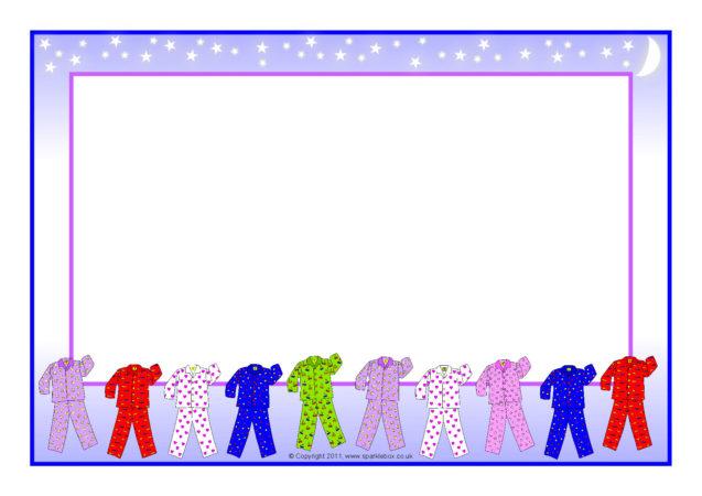 pyjamas-themed a4 page borders  sb5120