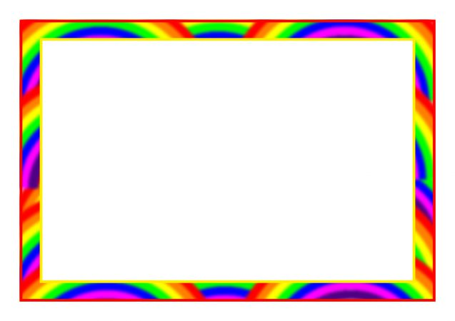 Rainbow-Themed A4 Page Borders (SB7475)