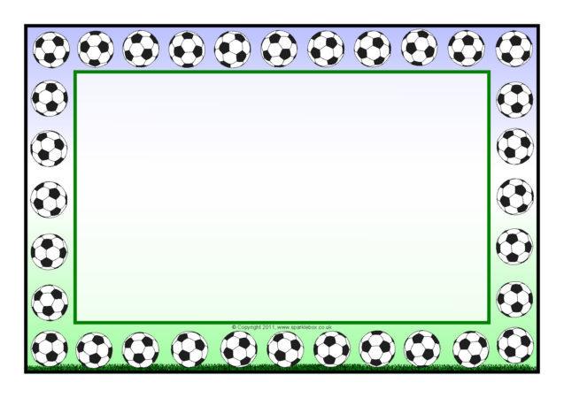 football a4 page borders sb5551 sparklebox