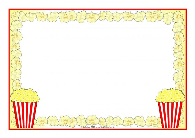 popcorn a4 page borders  sb8252  sparklebox birthday cupcake clipart free cupcake clipart free black and white