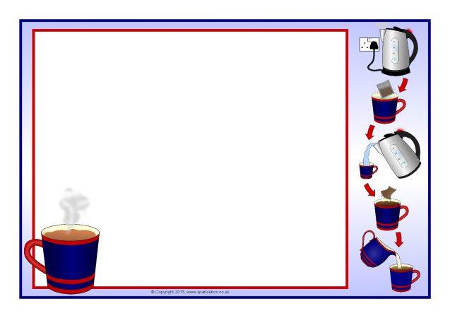making a mug of tea a4 page borders  sb9432
