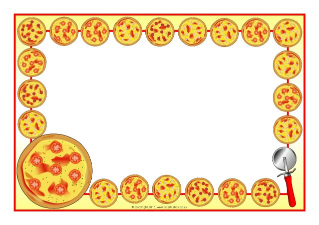 pizza a4 page borders  sb9446