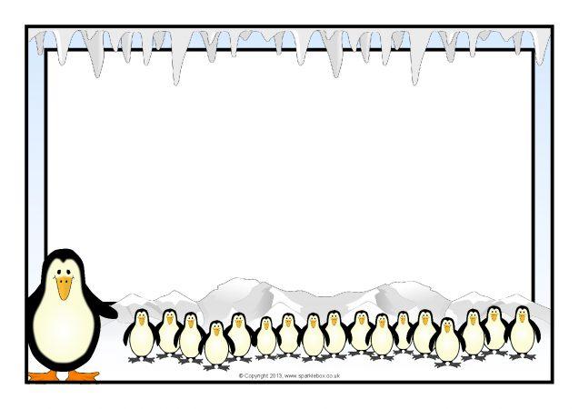 Penguin A4 Page Border...