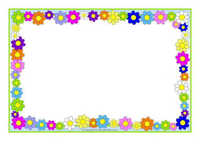 Flowers A4 Page Borders (SB10393) - SparkleBox