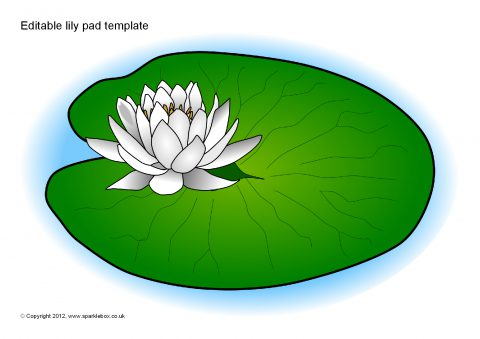 Fan image within printable lily pads