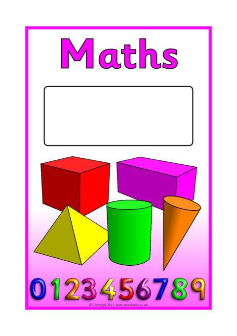Editable Subject Book Covers – Colour (SB4524) - SparkleBox