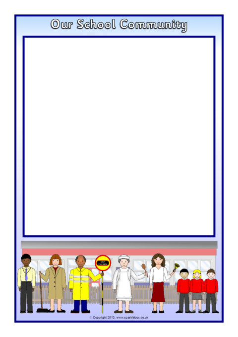 our school community a4 page borders  sb9827