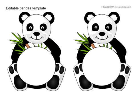 Panda Template | Editable Pandas Template Sb6726 Sparklebox