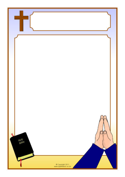 prayer a4 page borders set  sb7572