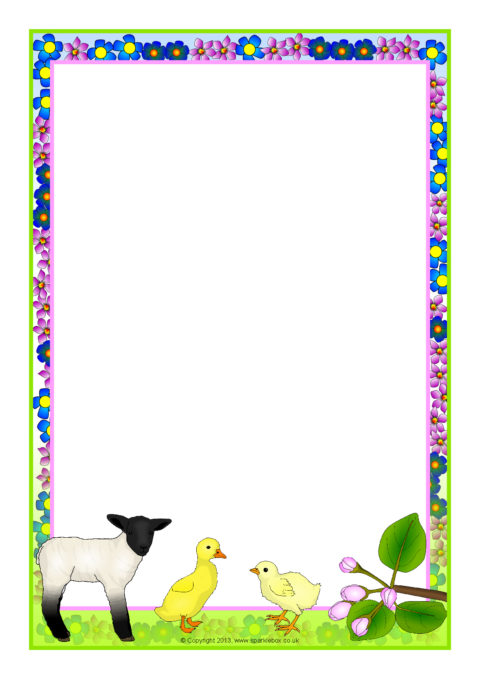 Spring-Themed A4 Page Borders (SB10092) - SparkleBox