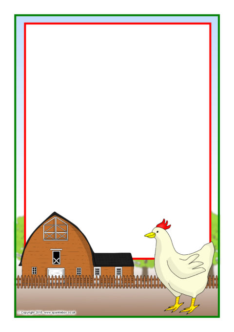 hen a4 page borders  sb12340