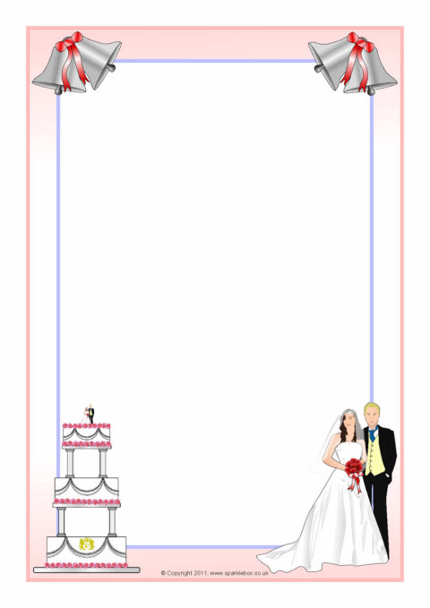 royal wedding a4 page borders sb4577 sparklebox