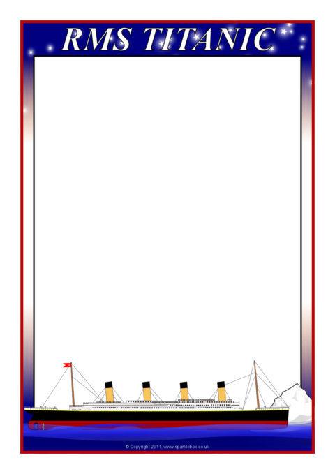 titanic a4 page borders  sb4579