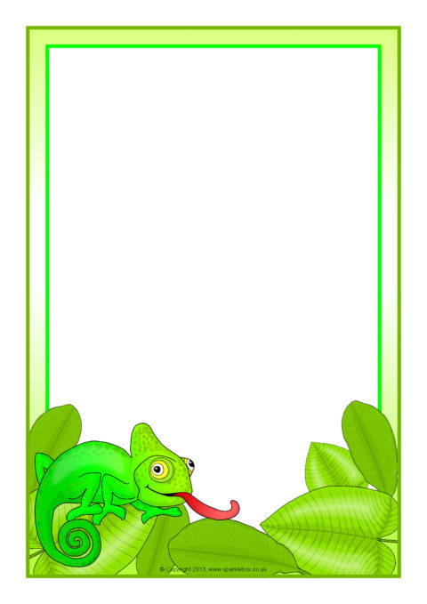 chameleon a4 page borders  sb9697