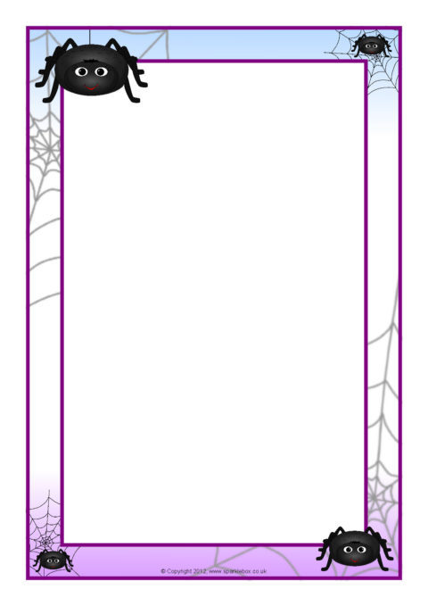 spider a4 page borders  sb8059