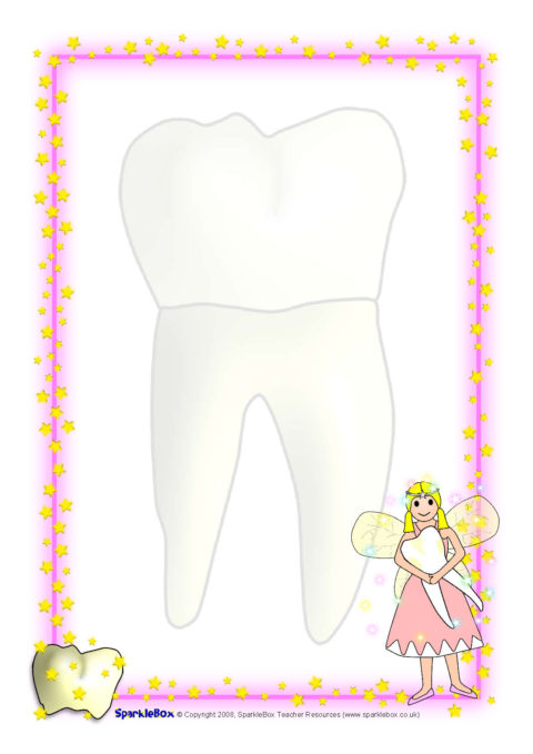 tooth fairy a4 page borders  sb1730